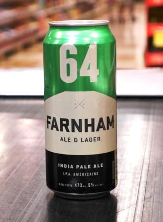 Microbrasserie Farnham Ale&Lager. Bière : 64