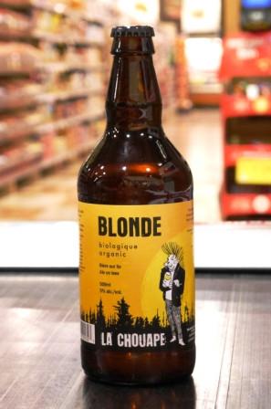 Microbrasserie La Chouape. Bière : Blonde