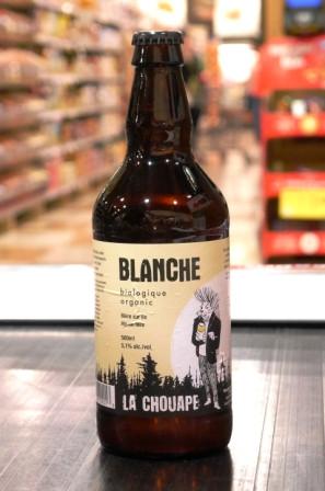 Microbrasserie La Chouape. Bière : Blanche