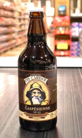 Microbrasserie Pit Caribou.  Bière : La Gaspésienne no 13