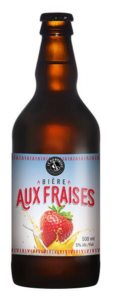 Microbrasserie Le Bilboquet. Bière : Bière aux fraises