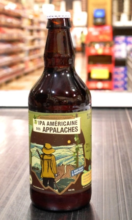 Microbrasserie Pit Caribou.  Bière : L'IPA américaine des Appalaches
