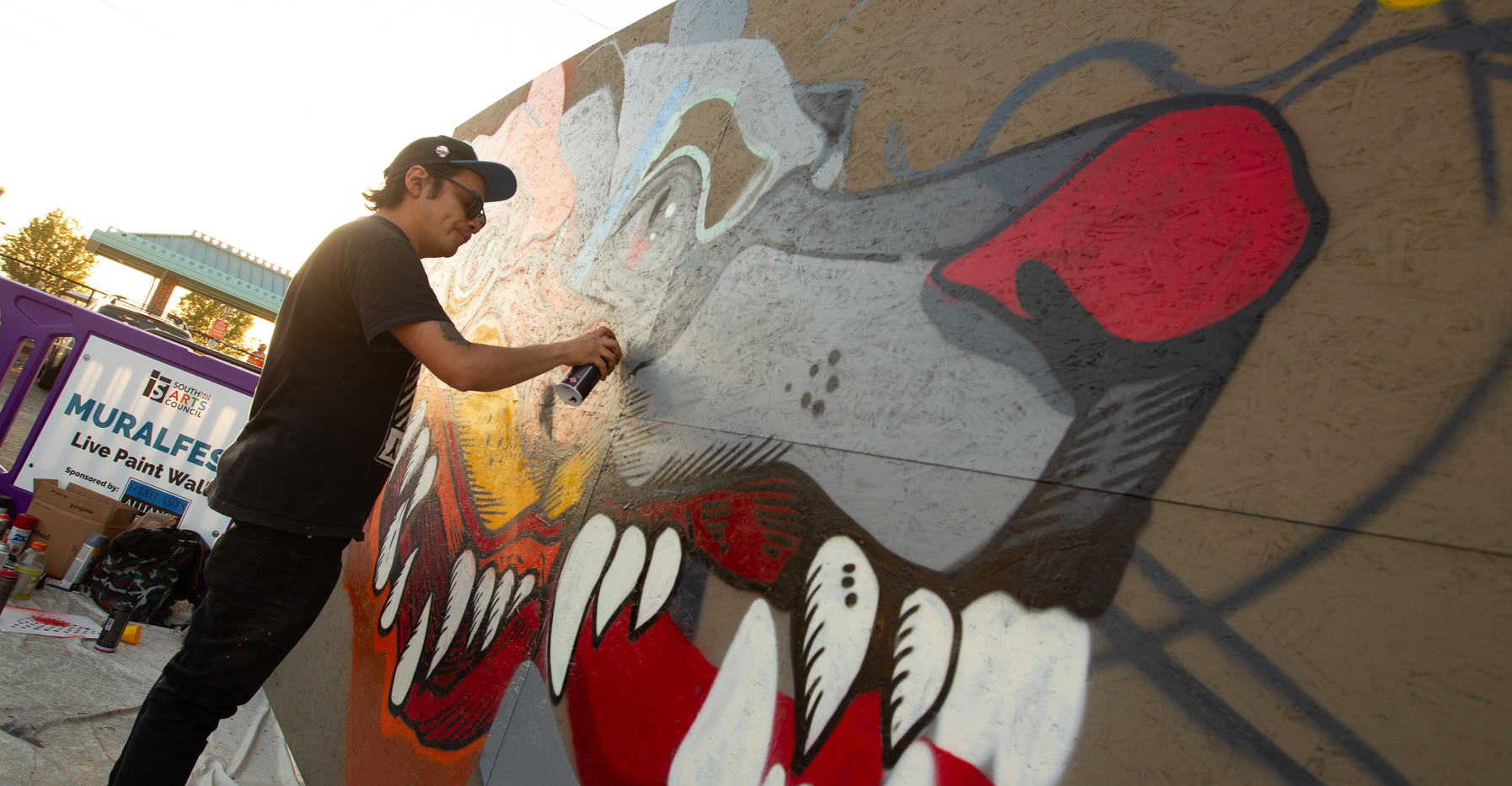Trasher live mural painting
