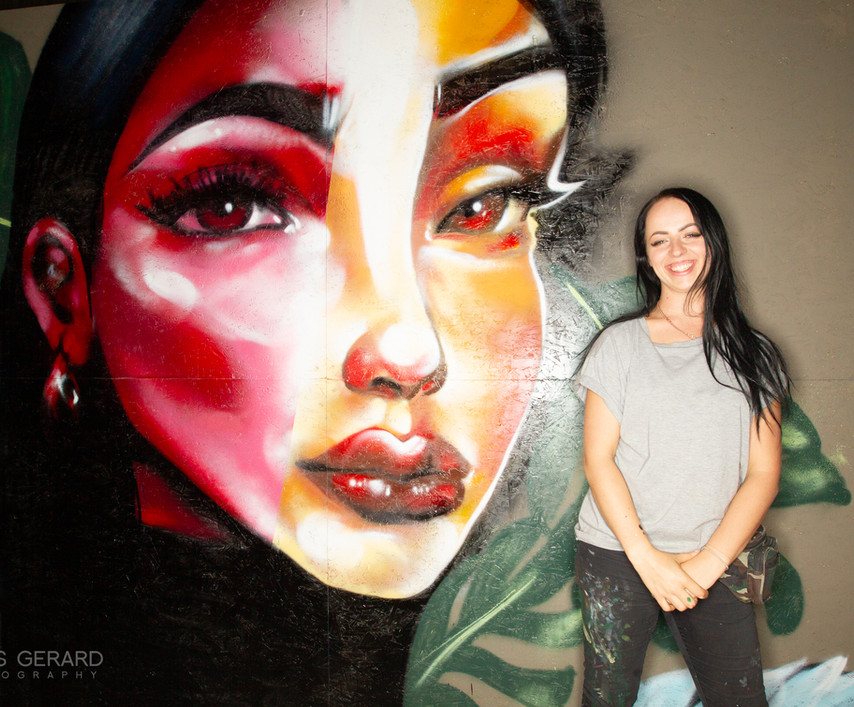 Hazard (from UK) live mural painting