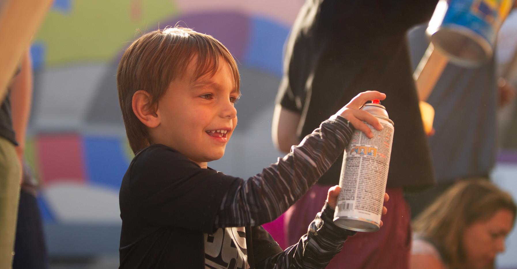 Child w/ Spraypaint