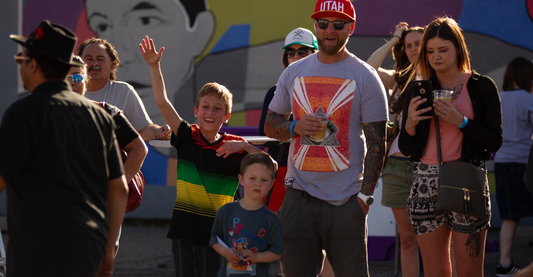 Family at Mural Fest