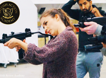 Hazel trains in Firearms for film with The B.A.A.