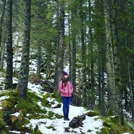 Hazel enjoys hiking