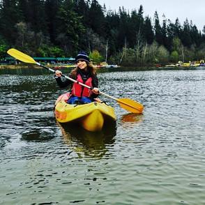 Hazel enjoys Kayaking