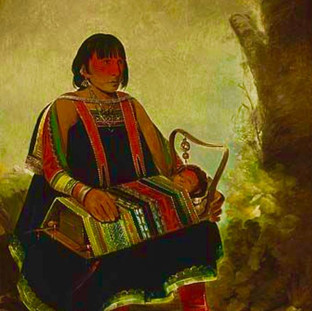 Jú-ah-kís-gaw, Woman with Her Child in a Cradle