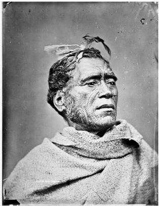 Maori Men's Face Tattoo