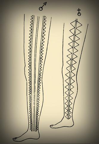 Traditional Hawaiian Leg Tattoos