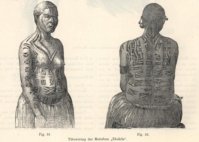 Papua New Guinea Women's Tattoos