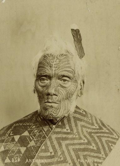 Maori Face Tattoos of Men