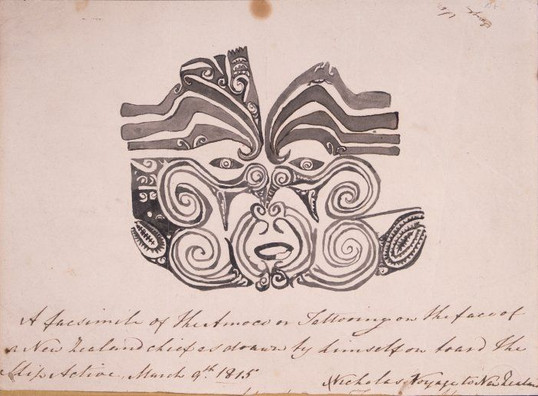 Drawning of Facial Moko