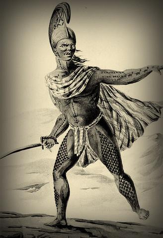 Close Up of Tattooed Hawaiian Warrior