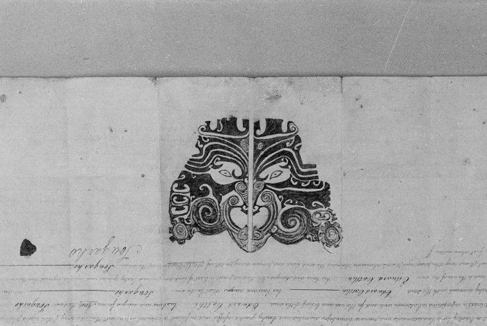 Maori Chief's Moko on Land Deed