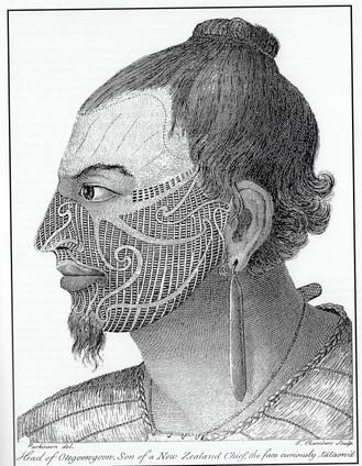 Depiction of Maori Tattooing