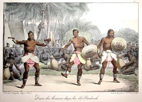 Dancing Tattooed Hawaiians
