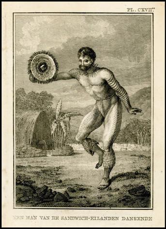 Dancing Tattooed hawaiin Man