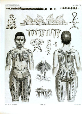 Woman's Tattooing of the Marquesan Islands