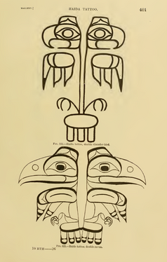 Haida Double Thunderbird Tattoo