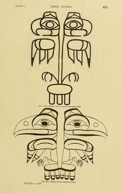 Haida Double Thunderbird Tattoo