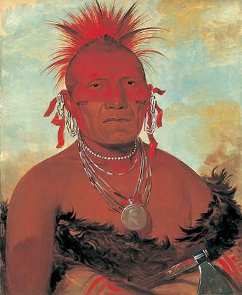 Pawnee Men's Face Tattoo