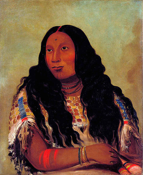 Sioux Woman's Face Tattoo