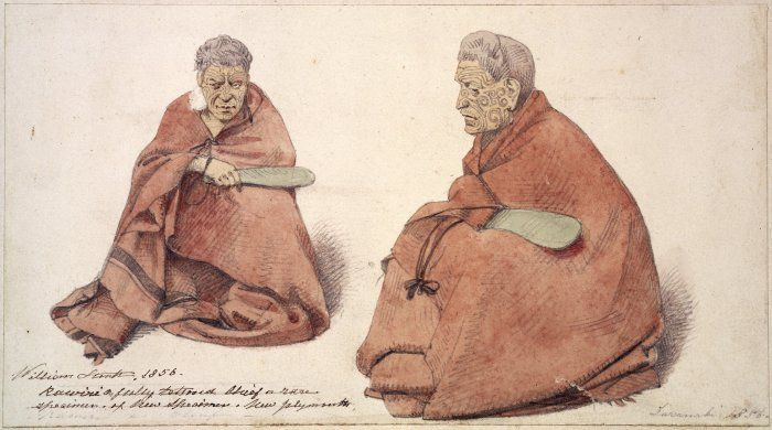Tattooed Maori Chief