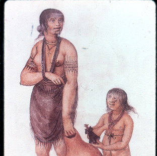 The Wife of the Chief of Pomeioc with her Daughter