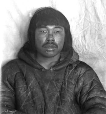 Inuit Man's Face Tattoo
