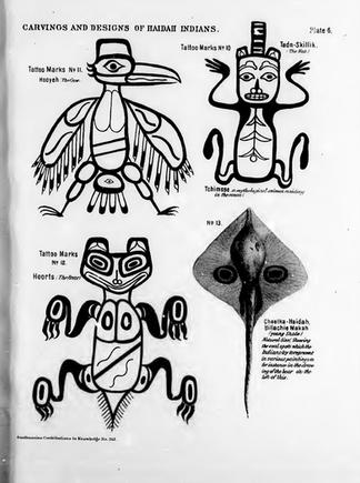 Haida Crest Tattoo Designs