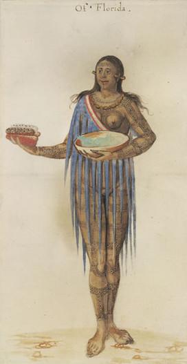Timucuan Woman from Florida Tattoos