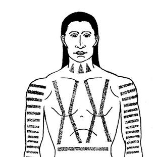 Cree Man's Body Tattoo