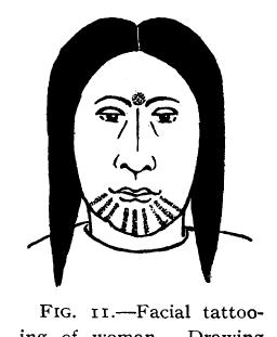 Cree Face Tattoo