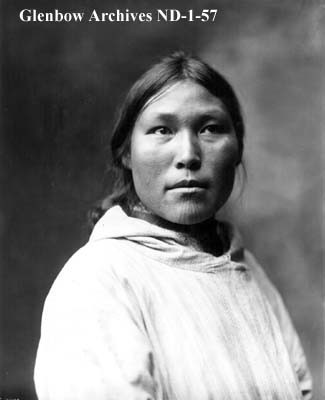 Inuit Woman with Chin Tattoo