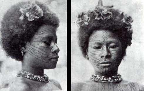 Face Tattooing Papua New Guinea