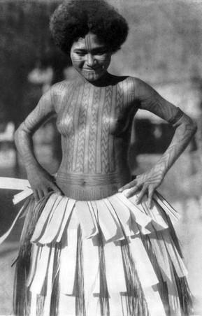 Girl's Tattoos Papua New Guinea