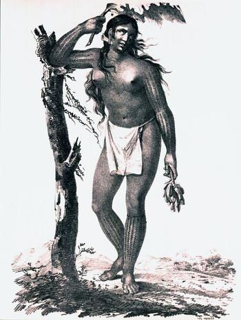 Polynesian Woman with Tattoos