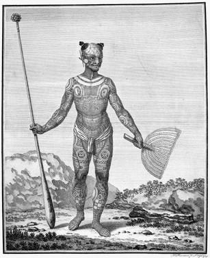 Tattooed Marquesan Man