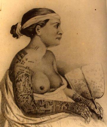 Tattooed Marquesan Woman