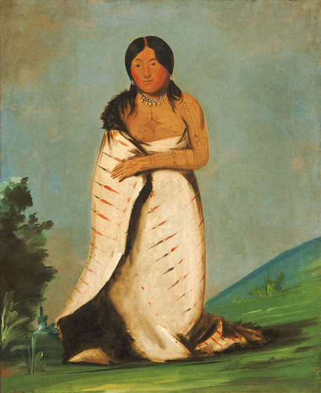 Ponca Woman with Tattoos