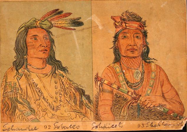 Native American Face Tattoo
