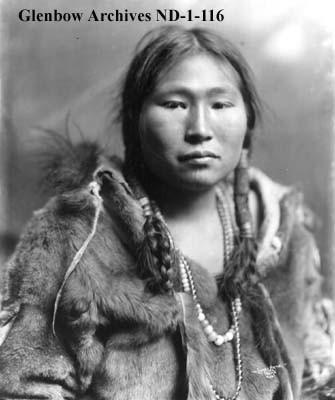 Inuit Tattoos on Woman