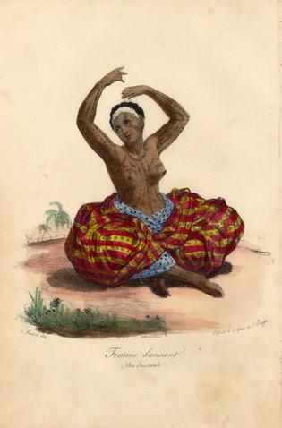 Hawaiian Woman with Tattoos