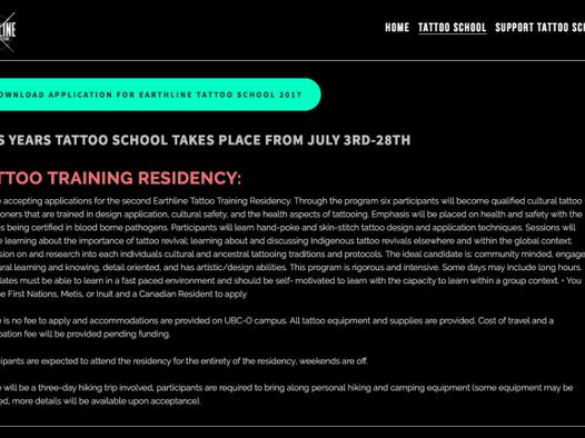 Earthline Tattoo Training Residency