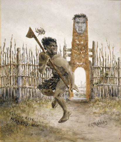Maori Warrior with Tattoos