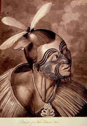 Historic Maori Tattoo Reference