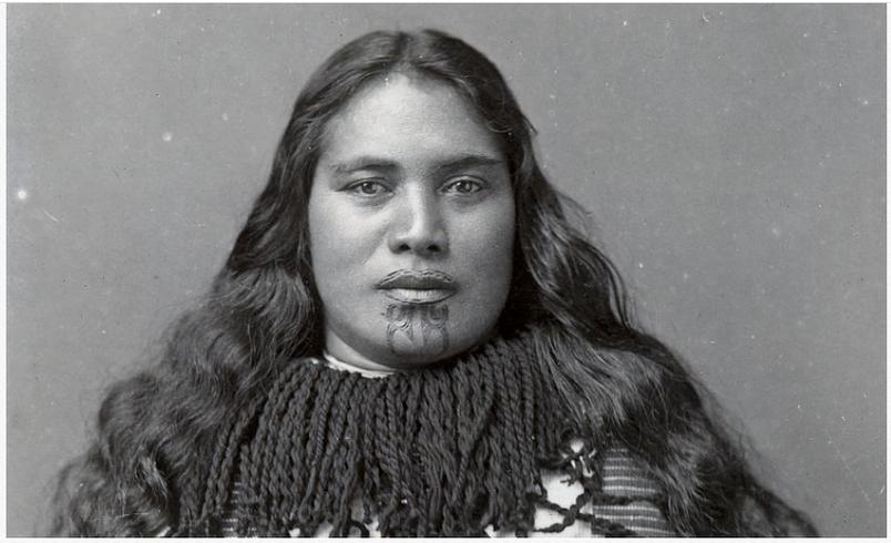 Woman's Maori Face Moko